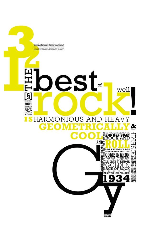 Resultado de imagen de especimen tipografico rockwell