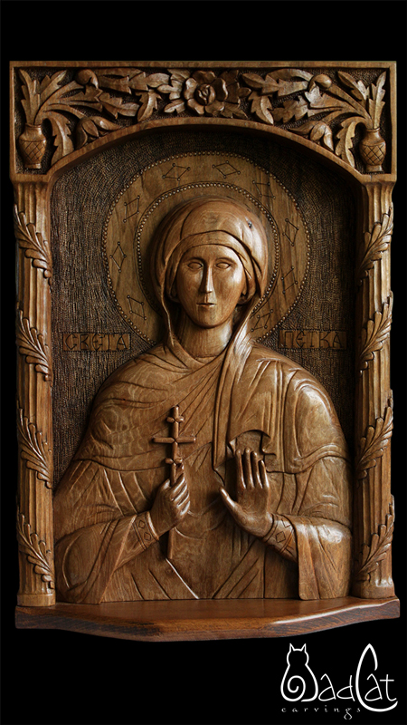 Orthodox icon carving st petka saint parascheva on behance