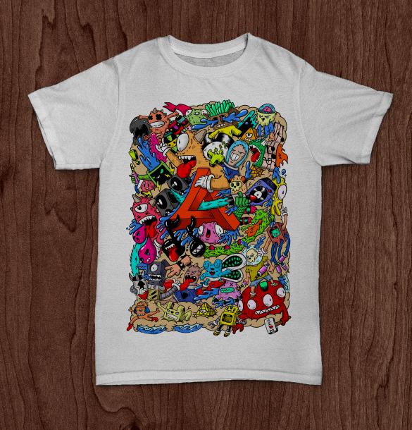 Doodle Designs For Shirts Doodle ma Dubstep T-shirt