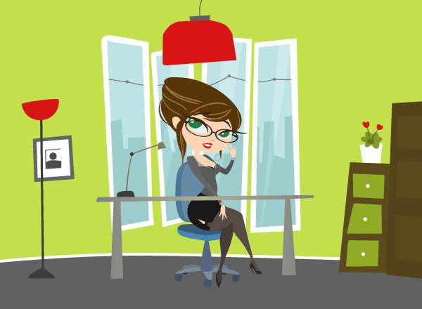 secretary Character Office ILLUSTRATION  Drawing