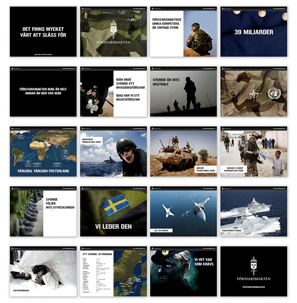 Powerpoint For The Swedish Armed Forces On Behance