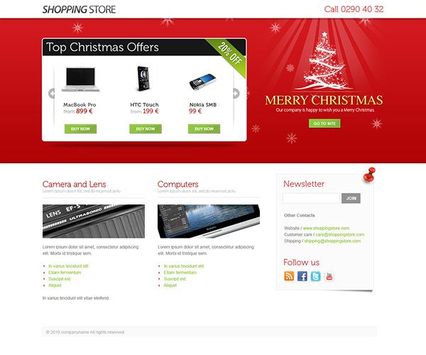 Christmas theme christmas landing page landing page premium template
