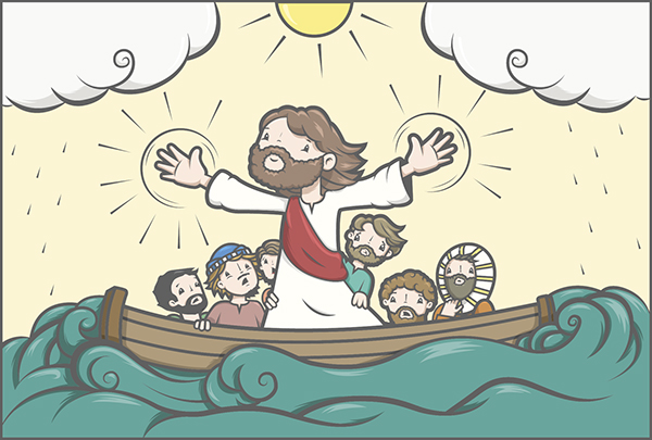 Jesus calma la tempestad on behance for Comedores ripley chile