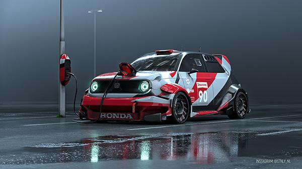 Honda E electric rally car
