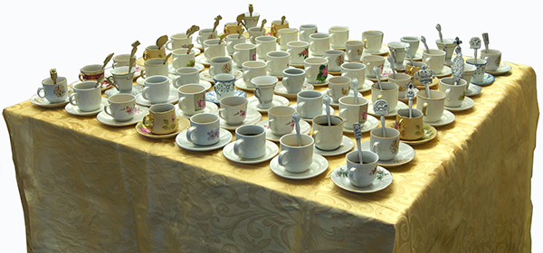 chess set spoon sets coffee cups 3d design Kevin O'Callaghan