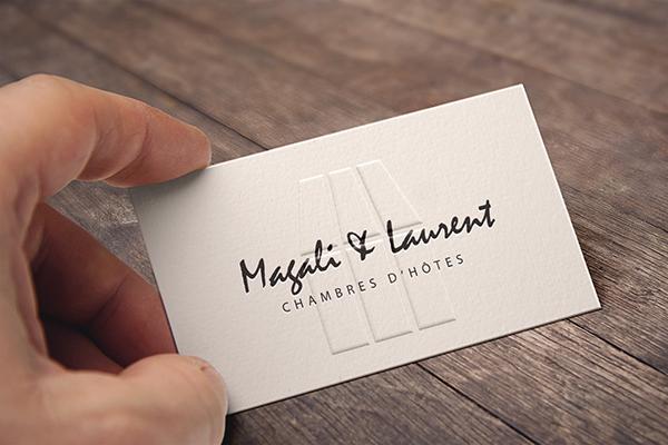 Ralisation Dun Logo Et De Cartes Visites Pour Un Couple Proposant Des Chambres Dhtes