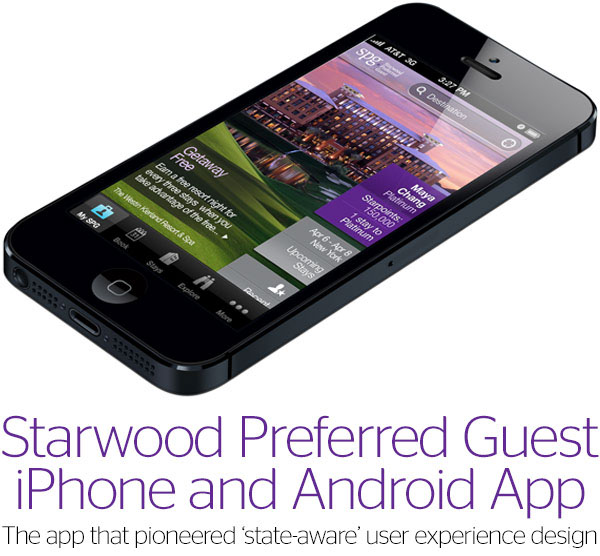 Starwood Preferred Guest IPhone And Android App On Behance