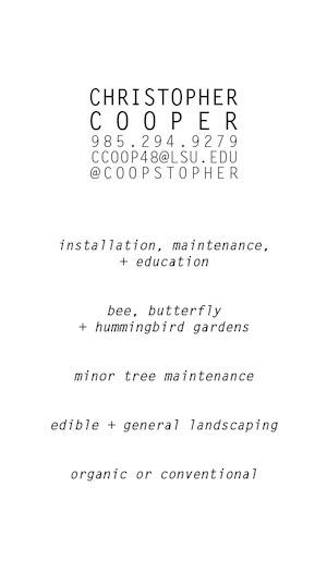 horticultural landscaping resumebusiness card on behance