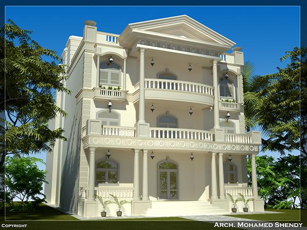 Classic villa on behance for Classic villa exterior design