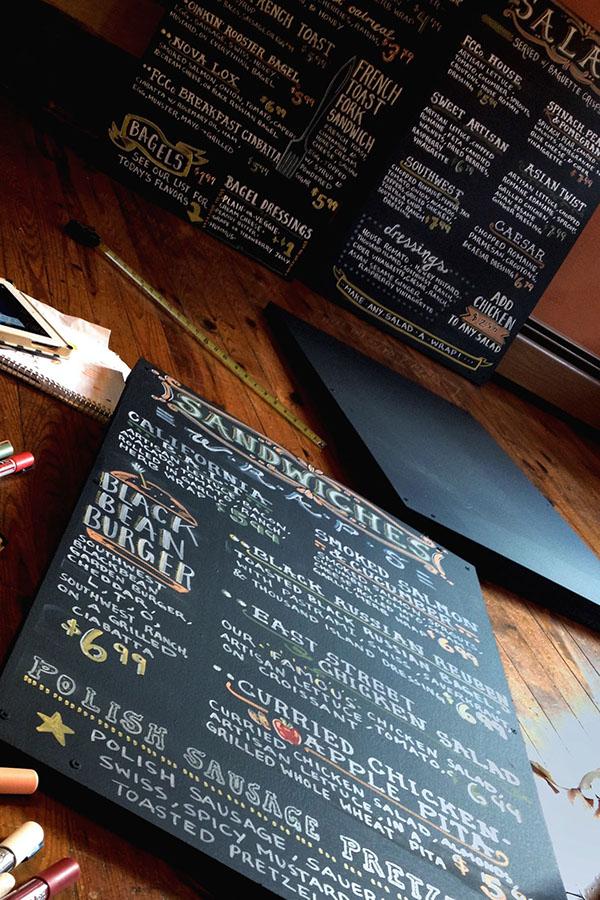 Handlettering Chalkboard design  Chalk Lettering menu board design chalk menuboard