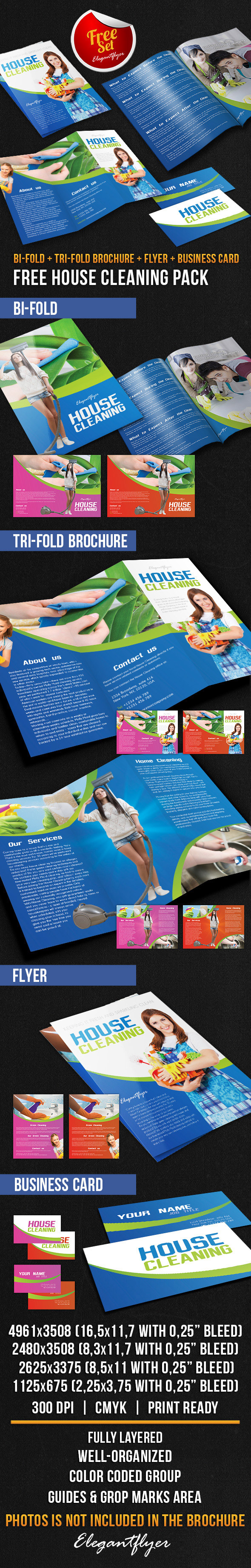 house cleaning brochure pack psd template on behance