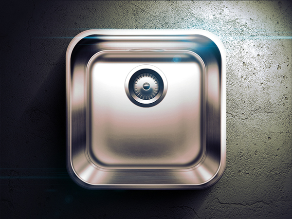 reflections Russia Moscow app icon highlight Icon gray dark black shadow light buttons kitchen Sink