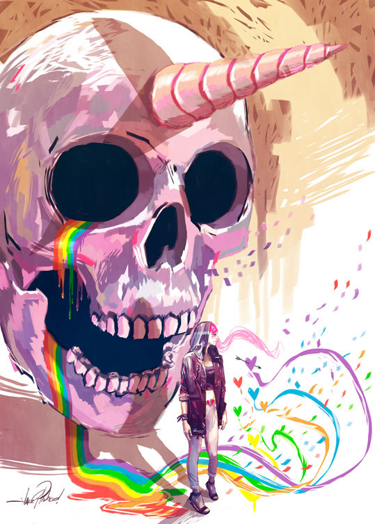 Unicorn Skull, rainbows and other stories. by Javier González Pacheco