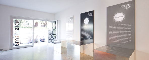 poster black Exhibition  polish milan poland design