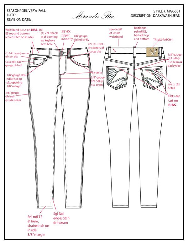Graphic Design Fashion Tech Pack