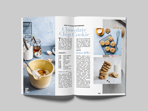 Gourmetology™ Magazine Layout