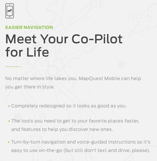 MapQuest mobile Website Travel app
