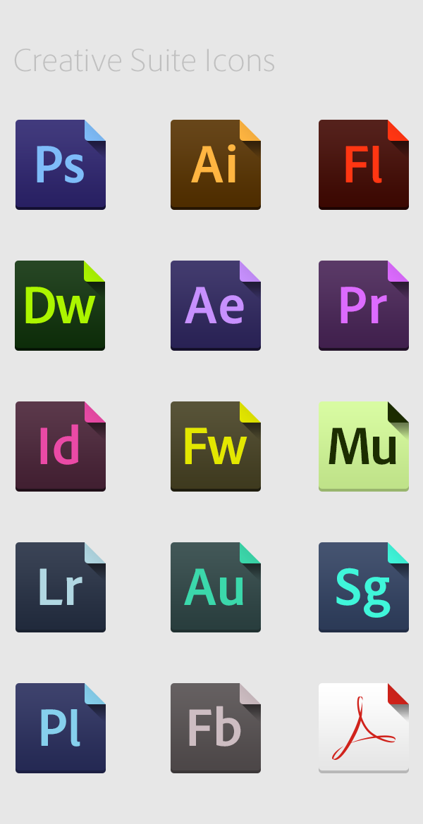 flat style  icon  Creative Suite