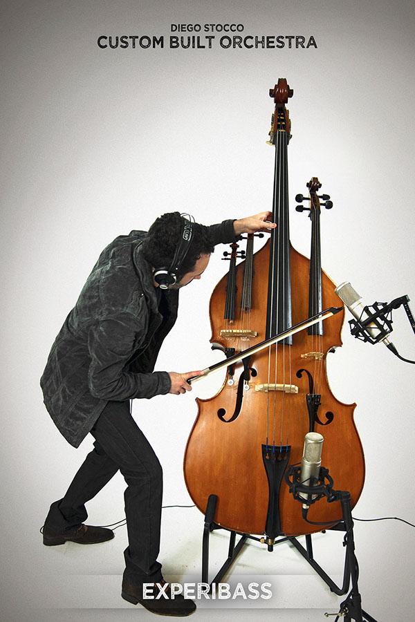 Diego Stocco Composer Music Sound Designer  performer experimental  video performance Custom Built Orchestra Custom Built Instruments Unique Instruments  Unusual Instruments  Arcophonico  Experiviolin  Expericello  experibass Luminopiano
