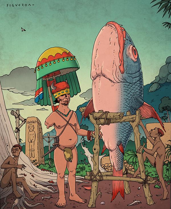 H. Emmanuel Figueroa  art  Illustration  psychedelic  surrealism  fantasy  esoteric
