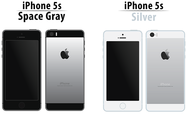 iphone 5s space grey iphone 5s space gray and silver illustration on behance 1948