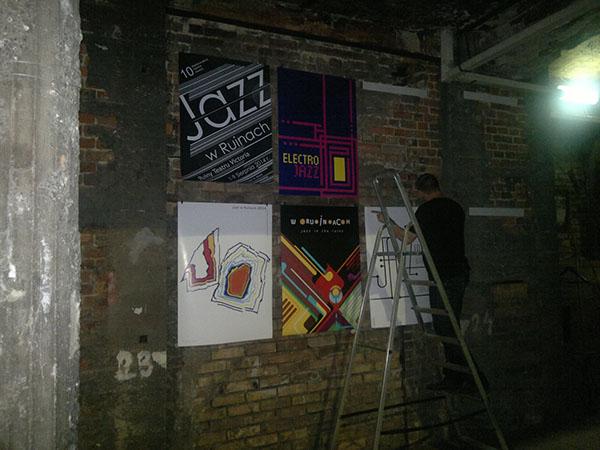 Poster Jazz Exhibition  Jazz W Ruinach Polonia Francesco Mazzenga