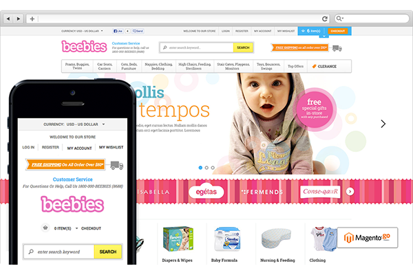 2eeffbcf4 Go Beebies - Responsive Baby Store Magento Go Theme on Behance