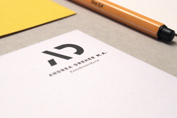 logo ad Stationery business card letter stamp indentity art Historian