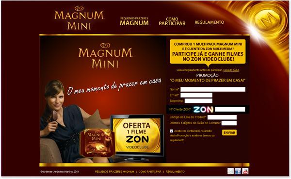 Magnum zon minisite on behance - Zon parasol ...