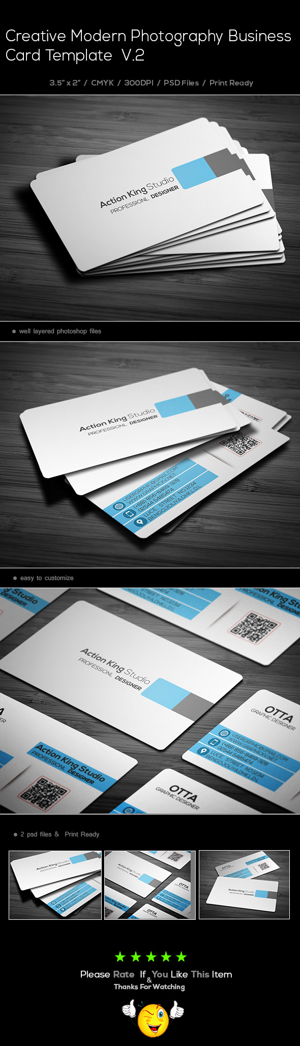 Creative modern corporate business card template v2 on behance reheart Gallery