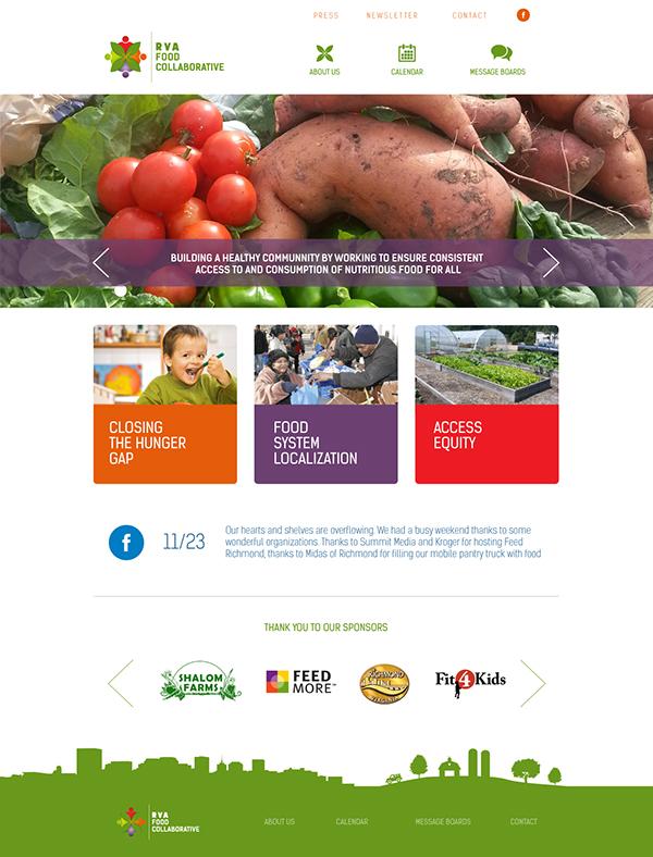 Rva food collaborative website on pantone canvas gallery - Cuisine collaborative ...
