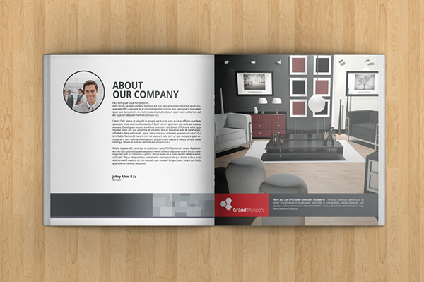 The Template Is Perfect For Any Company, Organisation, Or Any Other  Institutions That Needs A Clean, Elegant And Professional Brochure For ...