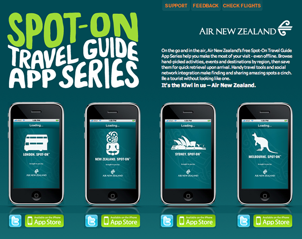 travel apps for iphone spot on travel guide app series for air new zealand on 16301