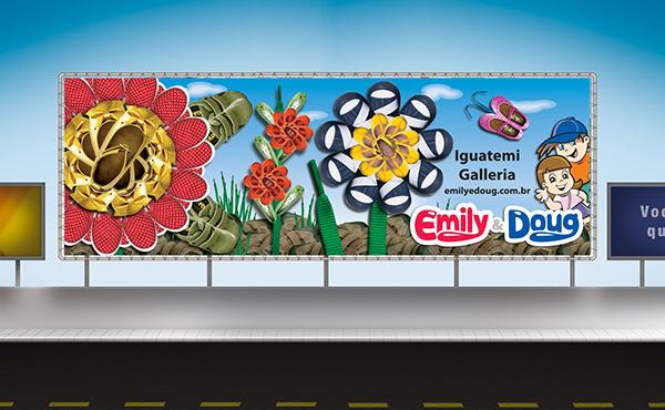 Campanhas Infantis comunicação Emily & Doug impressos agencia designer