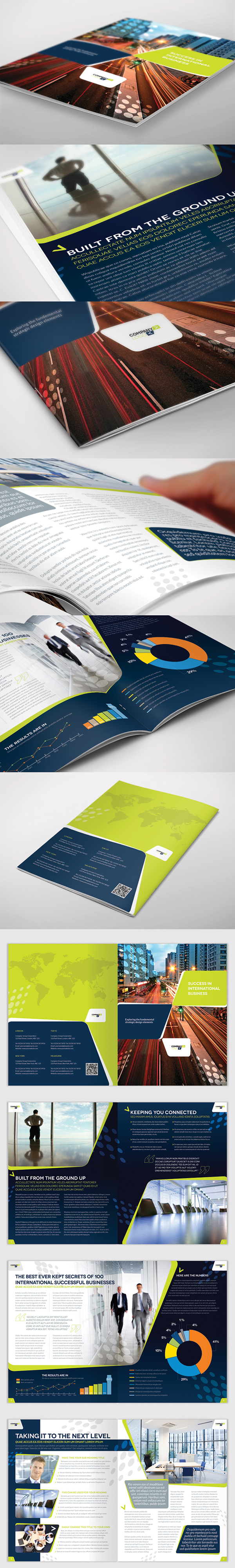 Brochure Template InDesign Page Layout On Behance - 8 page brochure template