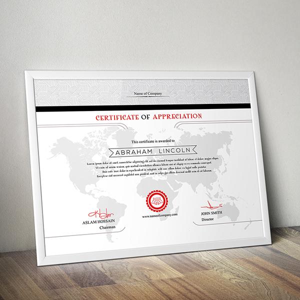 3 design multipurpose certificate gd009 on behance yadclub Images