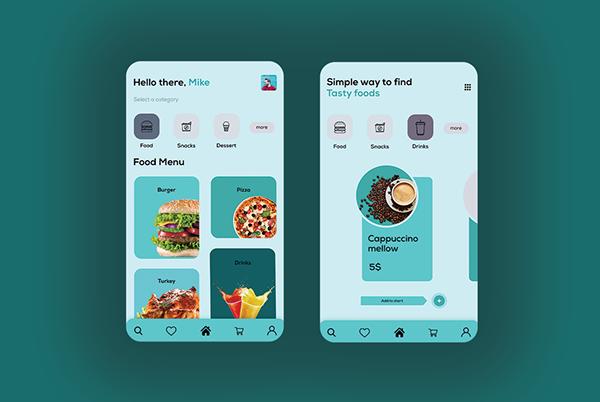 Food mobile app ui design