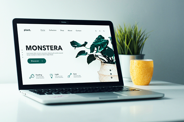 Plant website concept home page