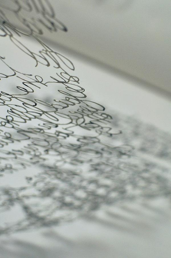 cutpaper cut-paper font handwriting Lyrics Memory