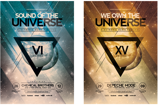futuristic poster template vol 5 on behance