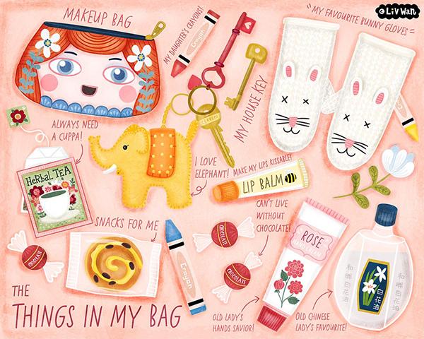 Lilla S Magic Bag Book Cover Design On Wacom Gallery