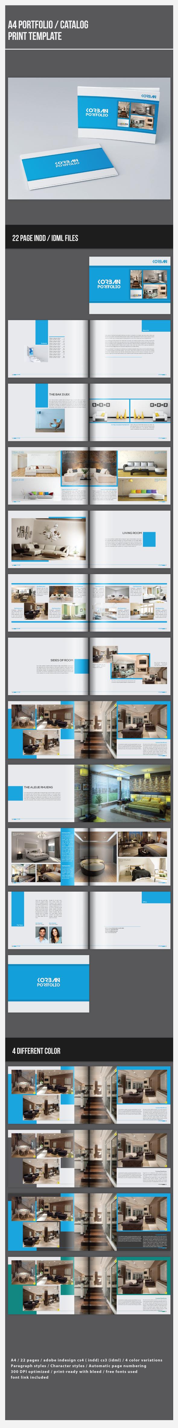 a4 portfolio template on behance