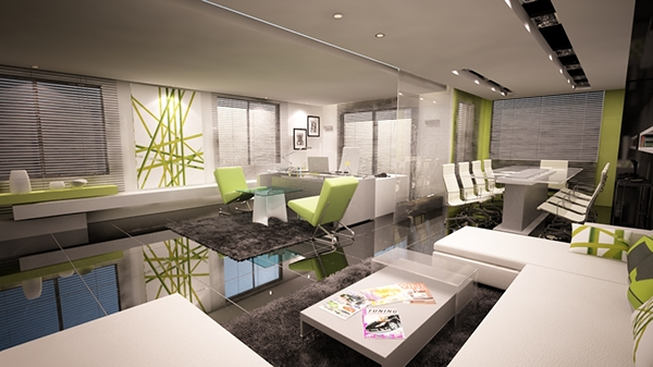 Ultra modern office interior design