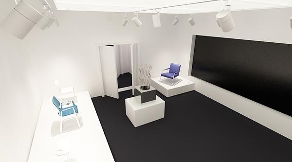 Interior light design for gallery on behance for 3d room simulator