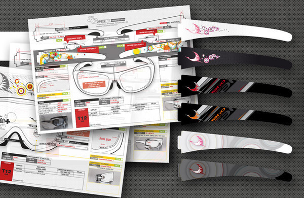 goggle glasses Logotype print
