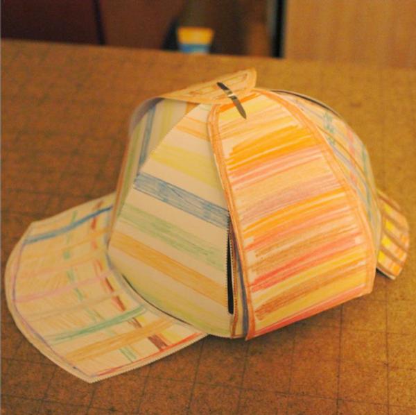 Шляпа шерлока холмса своими руками из бумаги 70