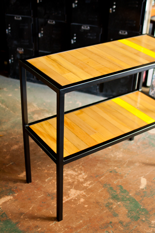 Repurposed Gymnasium Floor Table On Behance