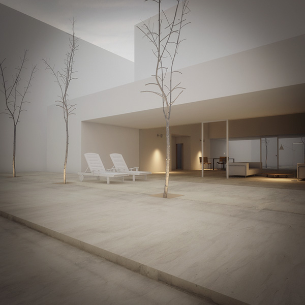 Reproduction of famous architectures on behance - Casa guerrero campo baeza ...