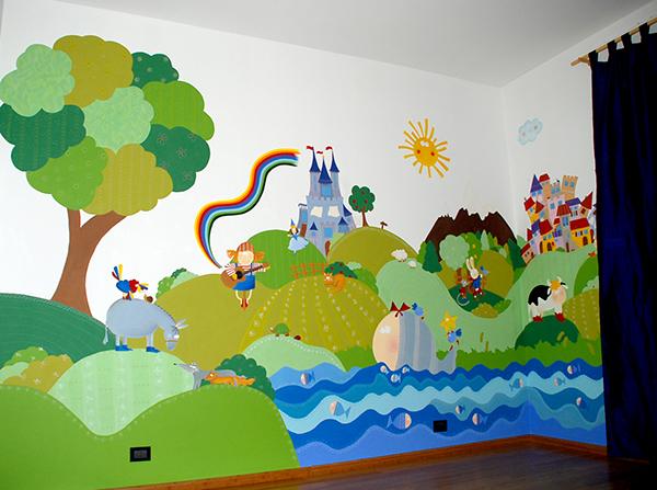 Disegni cameretta bambini pittura cameretta bambini fai - Murales cameretta bimbi ...