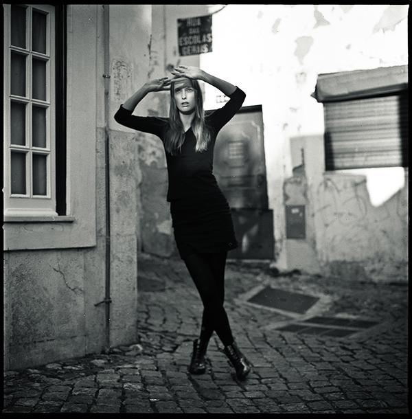 portrait women analog black and white beauty
